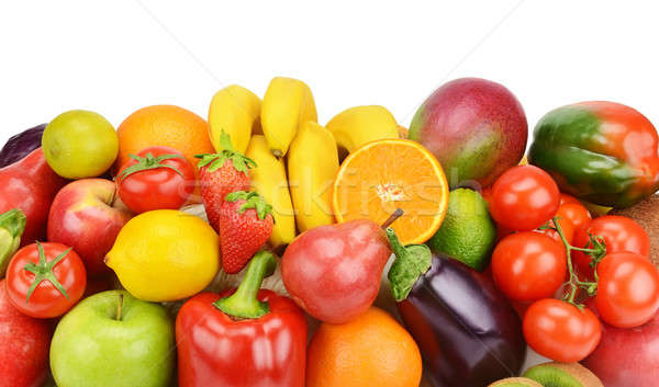 set of fruits and vegetables Stock photo © alinamd