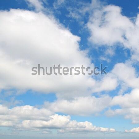 Witte wolken blauwe hemel pluizig voorjaar natuur Stockfoto © alinamd