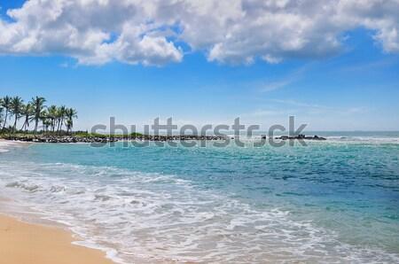 Stockfoto: Oceaan · pittoreske · strand · blauwe · hemel · hemel · water
