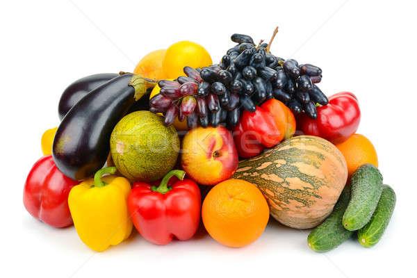 Meyve sebze yalıtılmış beyaz meyve sebze Stok fotoğraf © alinamd