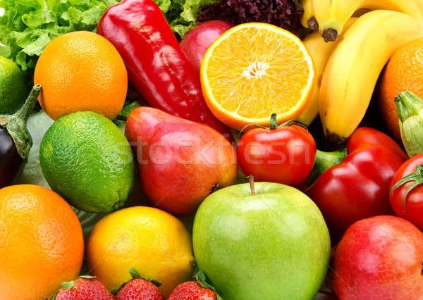ярко зрелый плодов овощей фрукты фон Сток-фото © alinamd