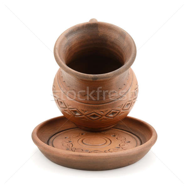 Kerámia csésze csészealj izolált fehér kávé Stock fotó © alinamd
