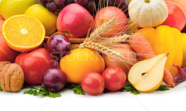 Stock fotó: Gyümölcsök · zöldségek · izolált · fehér · alma · gyümölcs