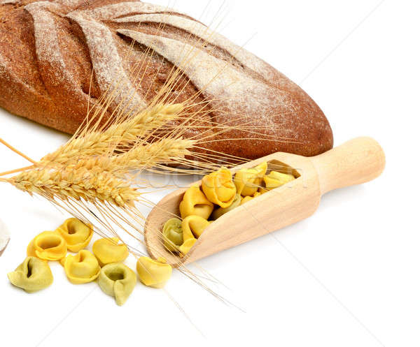 Bread and wheat ears isolated on white background Stock photo © alinamd