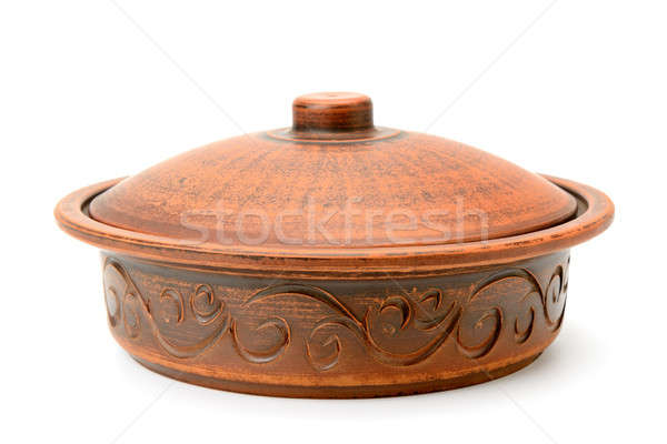 clay pot isolated on white background Stock photo © alinamd