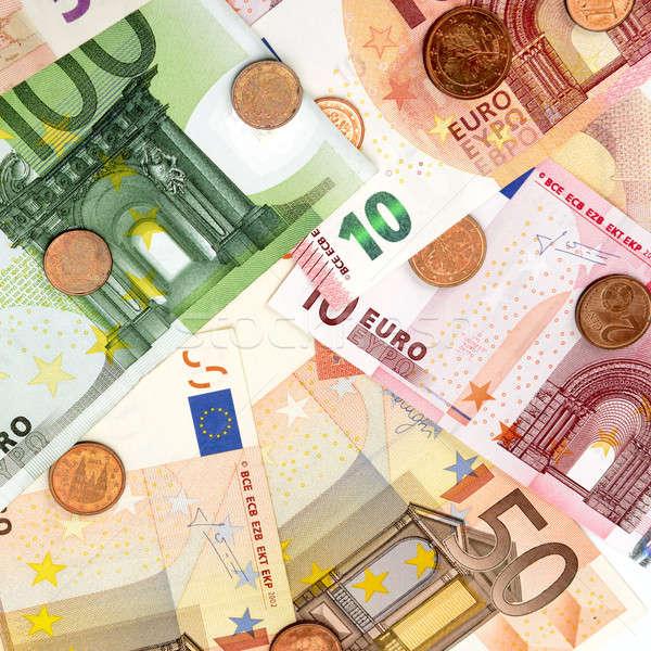 euro banknotes and coins Stock photo © alinamd