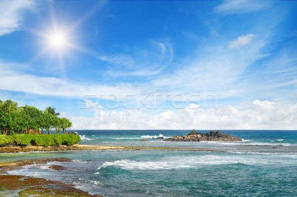 海 絵のように美しい ビーチ 青空 水 太陽 ストックフォト © alinamd