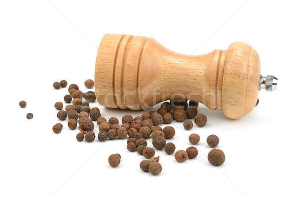 ミル ツリー 食品 ディナー 黒 白 ストックフォト © alinamd
