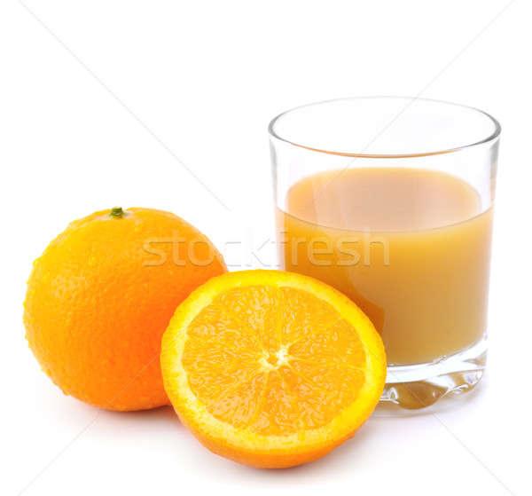 Orangen Orangensaft isoliert weiß Essen Hintergrund Stock foto © alinamd