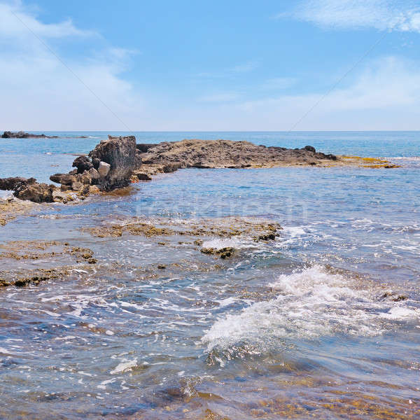 Scenico mare shore cielo blu cielo sfondo Foto d'archivio © alinamd