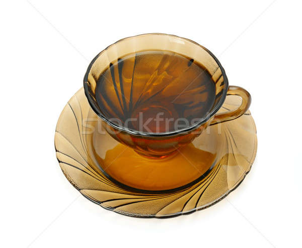 Кубок чай изолированный белый стекла воды Сток-фото © alinamd