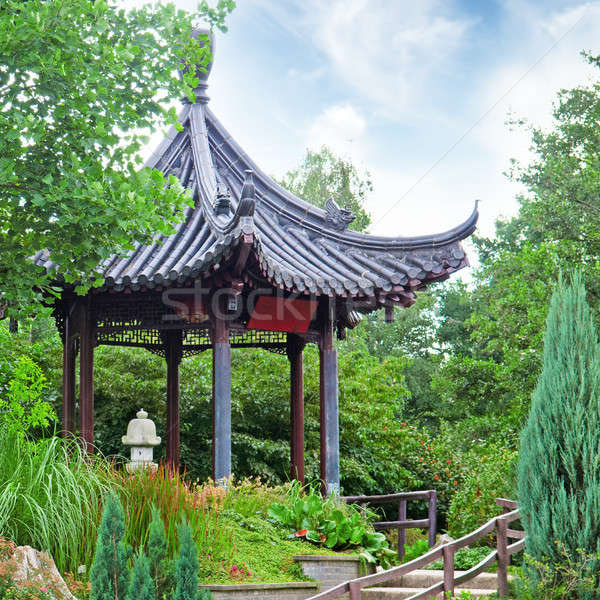 summerhouse in a beautiful park Stock photo © alinamd