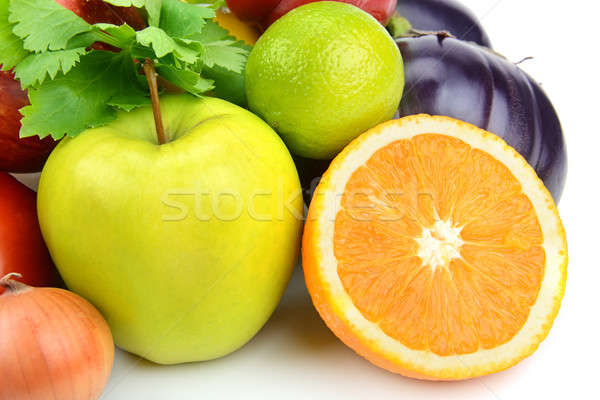 fruits and vegetables on a white background Stock photo © alinamd