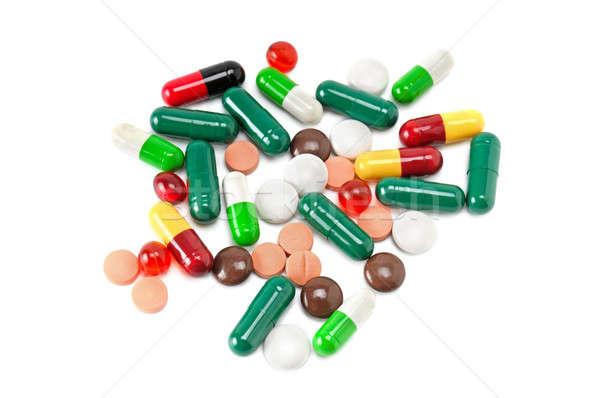 набор таблетки изолированный белый здоровья медицина Сток-фото © alinamd