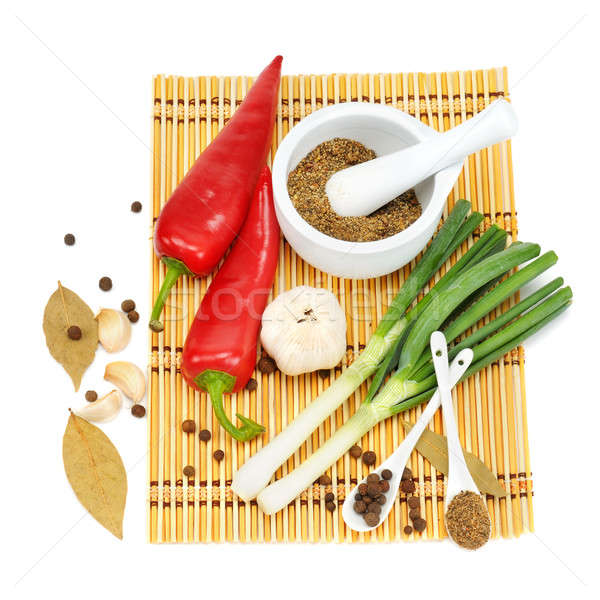 Stock photo: Vegetables and spices