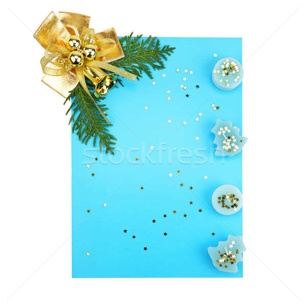 Christmas decorations and card for congratulations Stock photo © alinamd