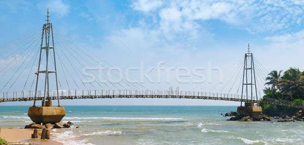 Ponte ilha budista templo Sri Lanka céu Foto stock © alinamd