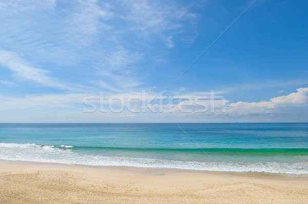 Océano playa de arena cielo azul nubes sol naturaleza Foto stock © alinamd