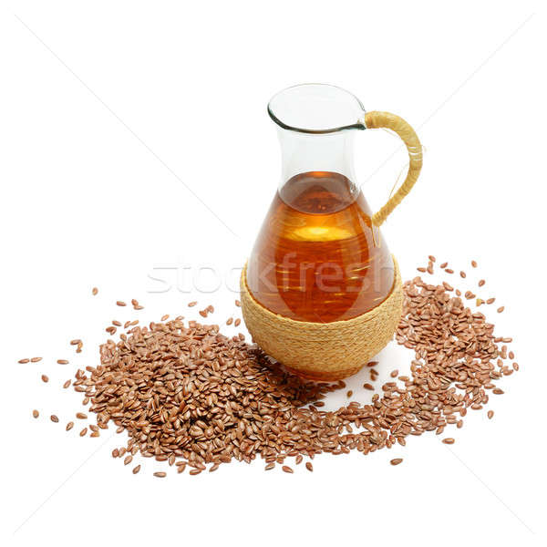 flax seeds and oil Stock photo © alinamd