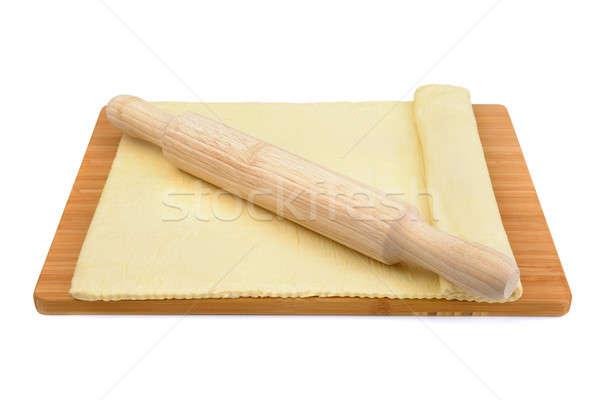 麺棒 孤立した 白 食品 木材 ピザ ストックフォト © alinamd