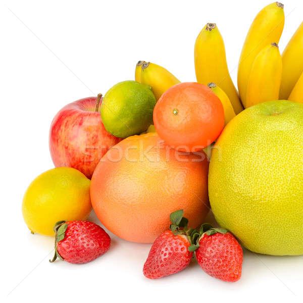 Stock photo: fruit set isolated on a white background