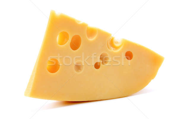 slice of cheese isolated on a white background Stock photo © alinamd