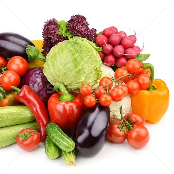 Sebze yalıtılmış beyaz ayarlamak gıda yeşil Stok fotoğraf © alinamd
