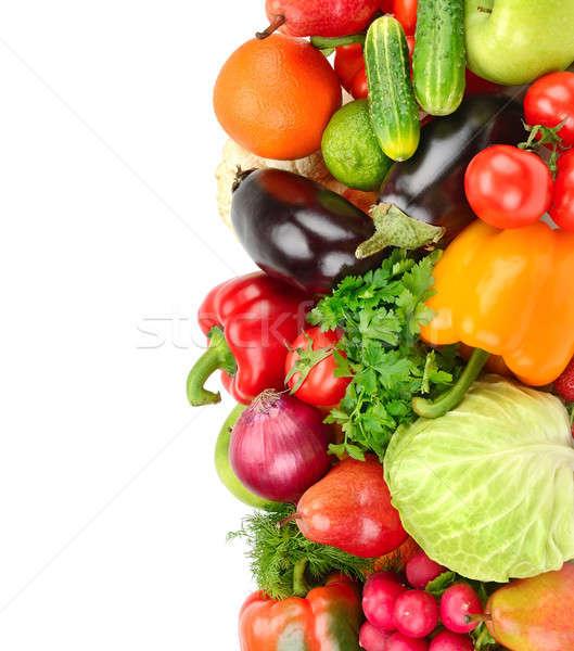 fruit and vegetable isolated on white background Stock photo © alinamd