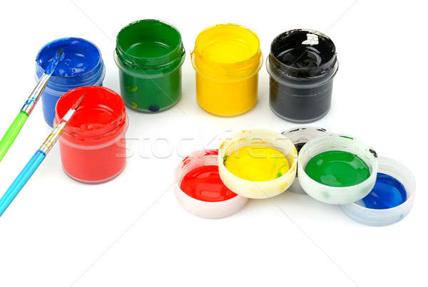 watercolor paints Stock photo © alinamd