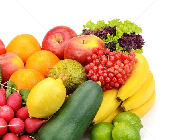 Vruchten groenten geïsoleerd witte voedsel blad Stockfoto © alinamd