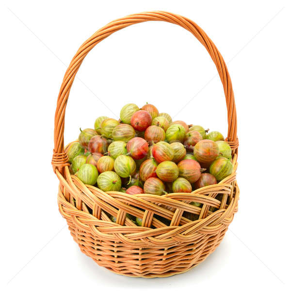 berry of gooseberry in a basket Stock photo © alinamd