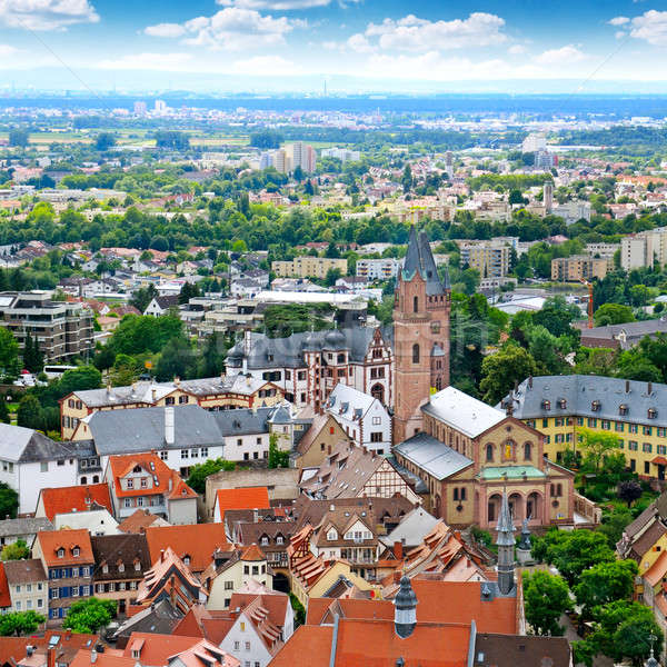 Picturesque view of the European city, the top view Stock photo © alinamd