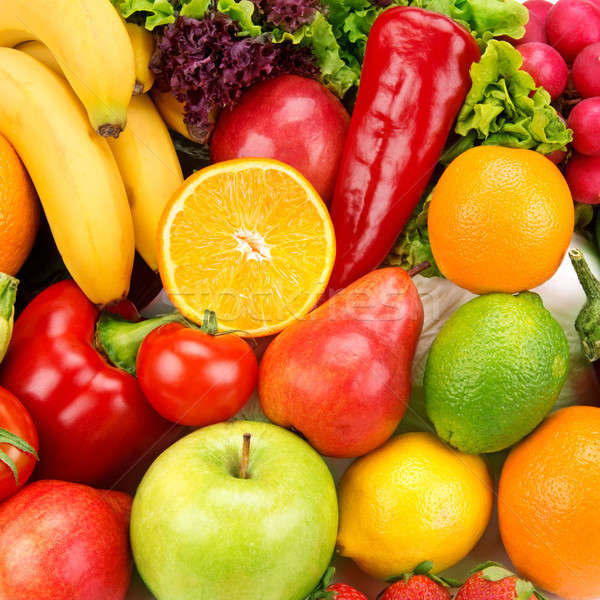 bright background of ripe fruits  and vegetables Stock photo © alinamd
