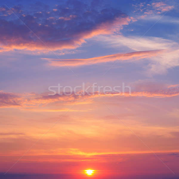 beautiful sunrise and cumulus clouds Stock photo © alinamd