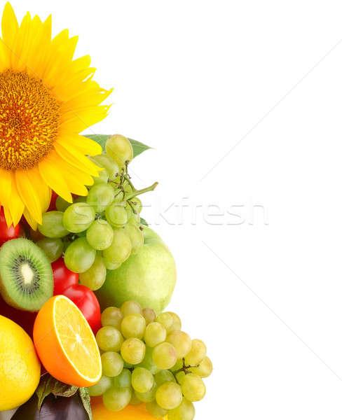 коллекция плодов овощей изолированный белый яблоко Сток-фото © alinamd
