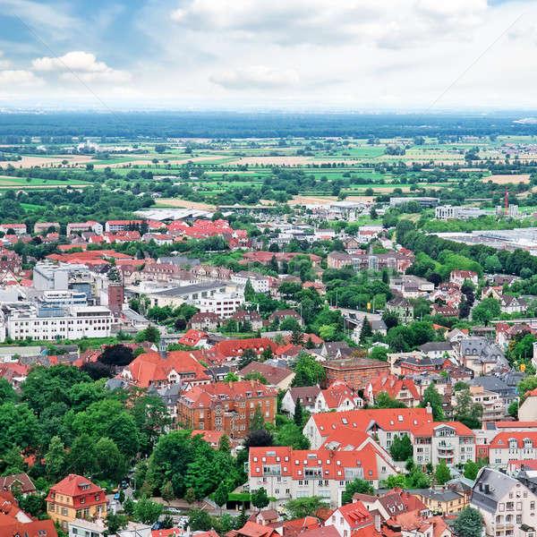 panorama of the city and the surrounding nature Stock photo © alinamd