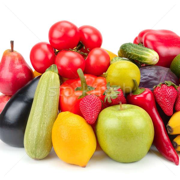 Vruchten groenten geïsoleerd witte voedsel oranje Stockfoto © alinamd