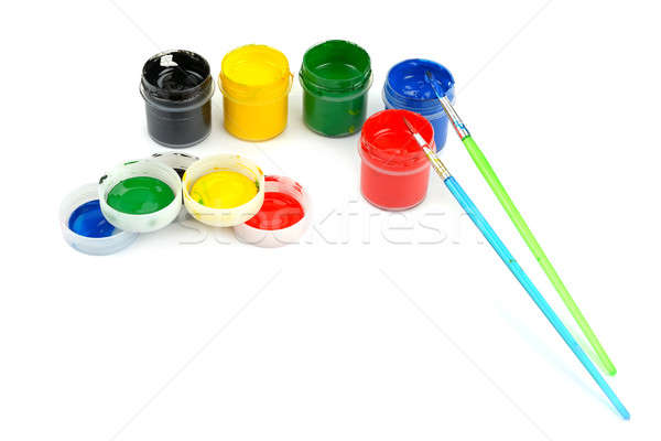 watercolor paints and brushes  Stock photo © alinamd