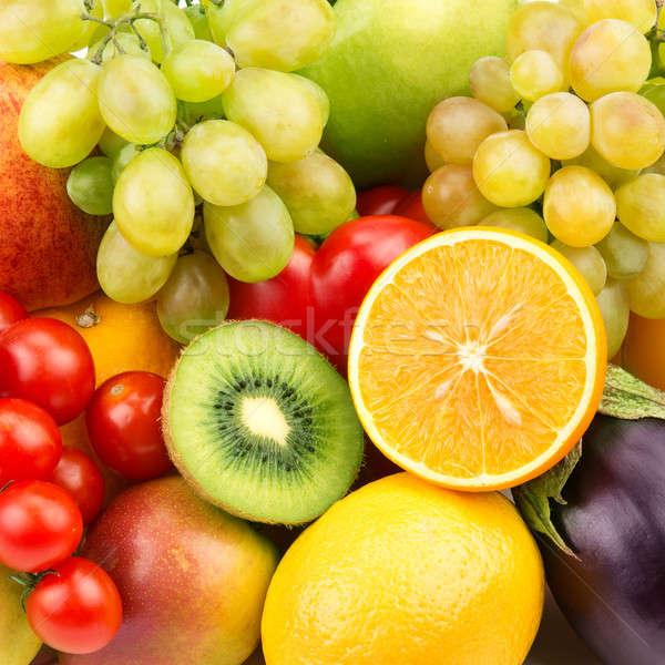 Brilhante maduro fruto legumes fundo cor Foto stock © alinamd