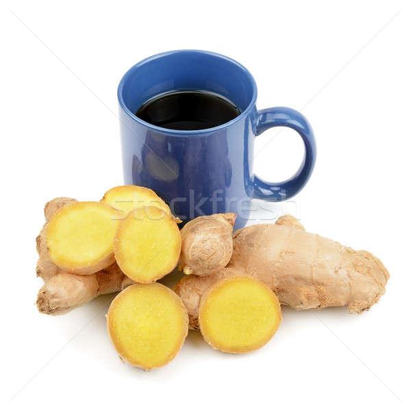 Zenzero tè isolato bianco medicina caldo Foto d'archivio © alinamd