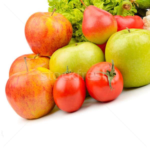 Vruchten groenten geïsoleerd witte gratis ruimte Stockfoto © alinamd