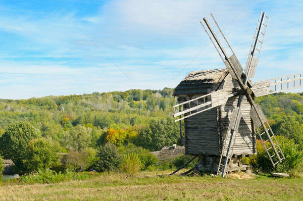wooden windmill Stock photo © alinamd