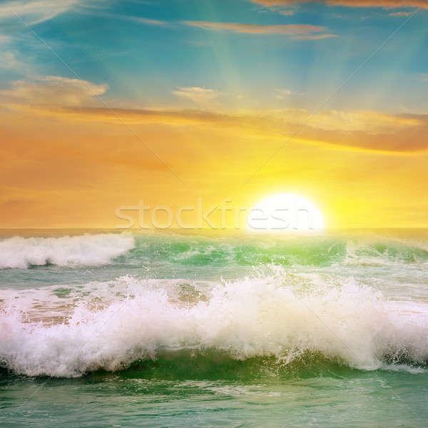 sunrise over the ocean Stock photo © alinamd