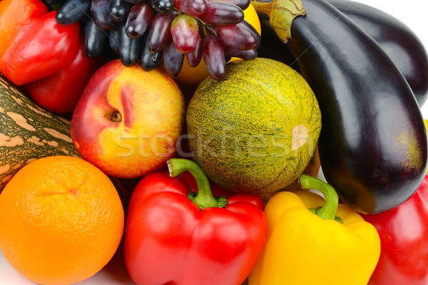 background of a set of vegetables and fruits Stock photo © alinamd