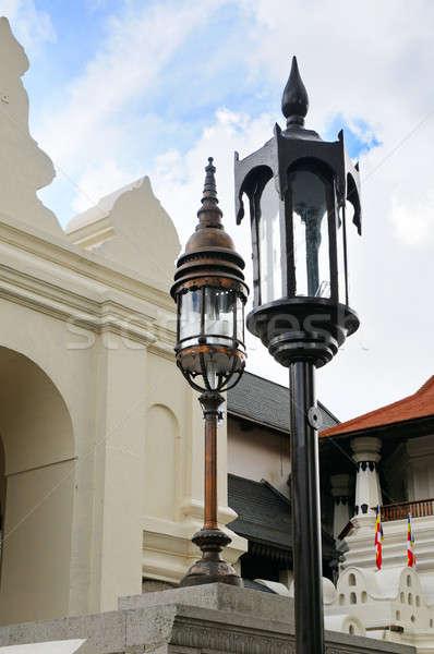street lamp in a Buddhist temple Stock photo © alinamd