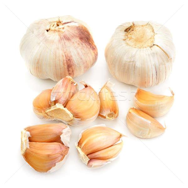 Garlic isolated on white background Stock photo © alinamd