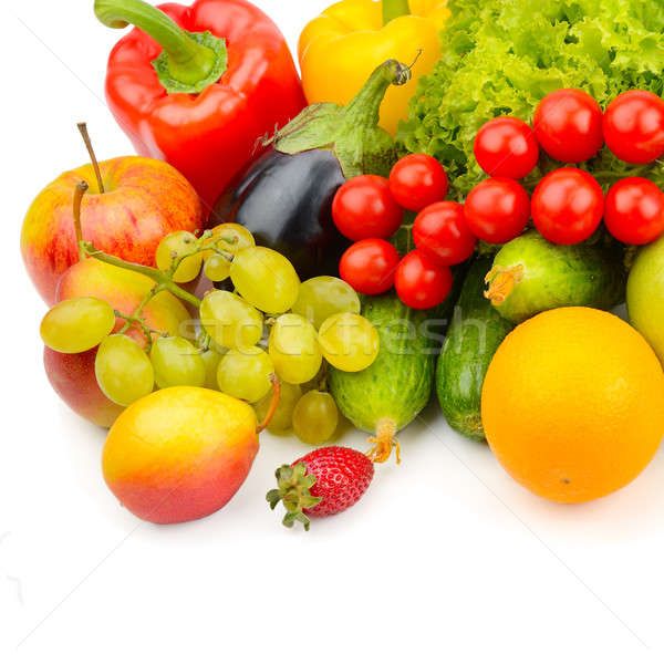 fruits and vegetables isolated on white Stock photo © alinamd