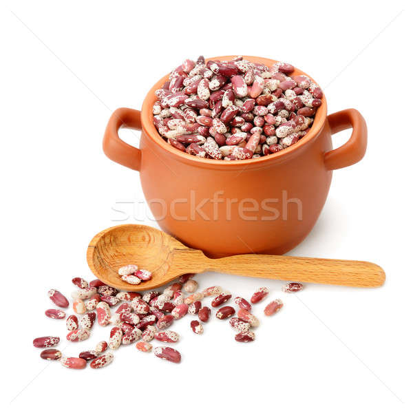 beans in a ceramic pot isolated on white background Stock photo © alinamd
