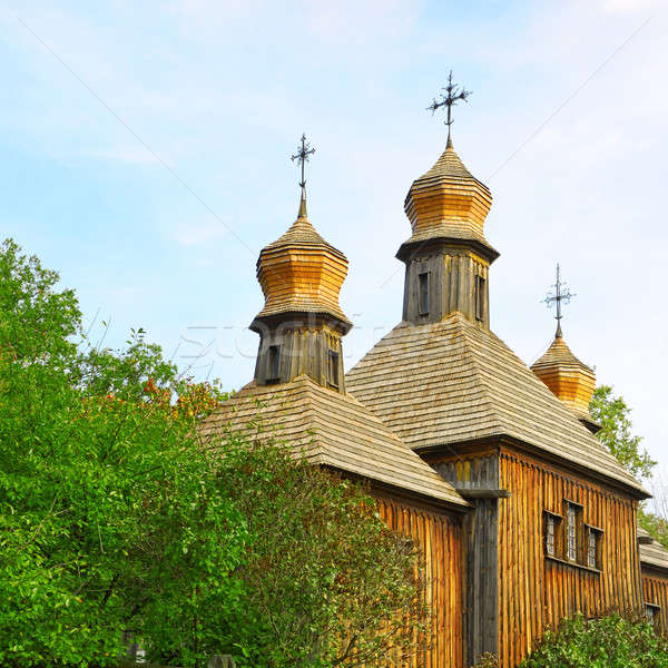 Orthodox Church, the old wooden building Stock photo © alinamd