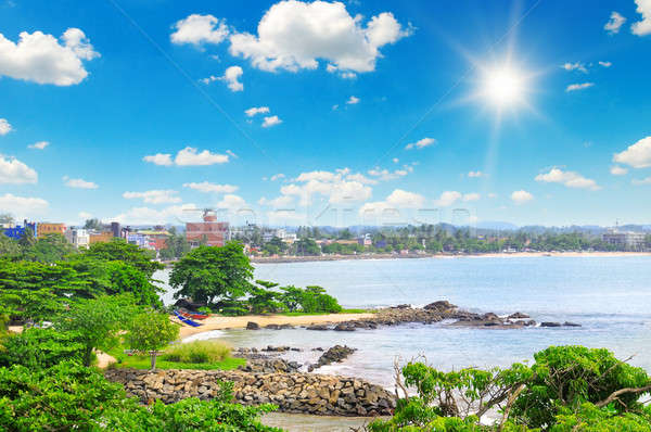 views of the port city on the ocean (Galle Sri Lanka) Stock photo © alinamd